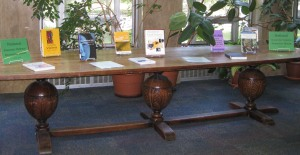 Book Display for National Domestic Violence Awareness Month