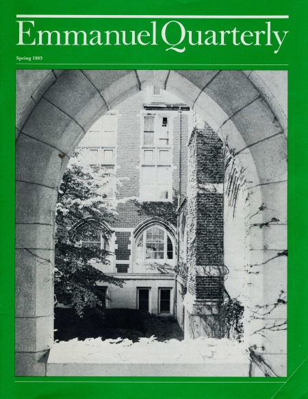 The cover of the first issue of the Emmanuel Quarterly